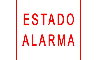ESTADO DE ALARMA – SEGUNDO COMUNICADO